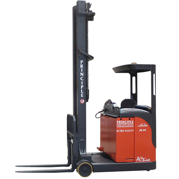 Linde Reach Truck experts - call today for a quote from Principle Fork Lifts
